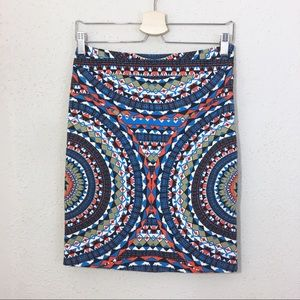 Anthropologie Tabitha Olmeda Geometric Skirt 2